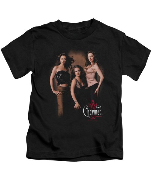 Charmed - Three Hot Witches Kids T-Shirt