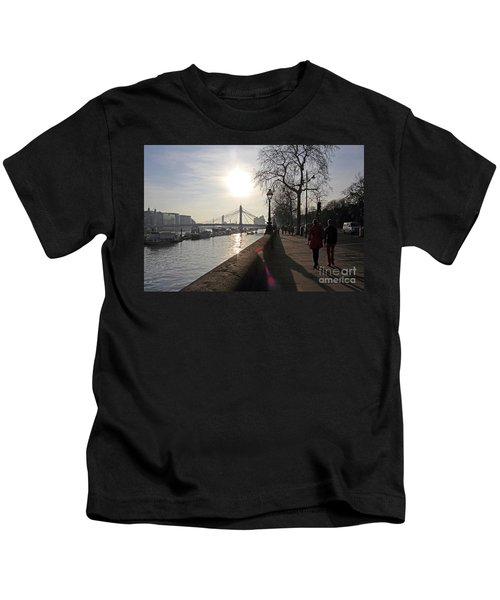 Chelsea Embankment London Uk Kids T-Shirt