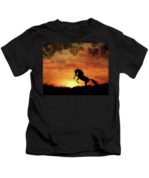 Chestnut Sunset Kids T-Shirt