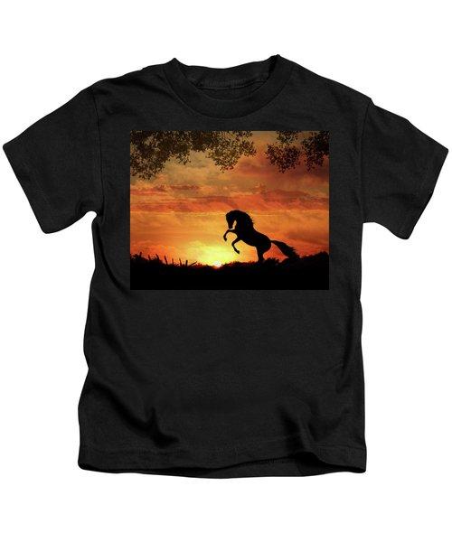 Chestnut Sunset Kids T-Shirt