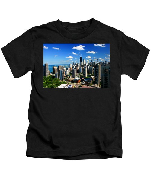 Chicago Buildings Skyline Clouds Kids T-Shirt
