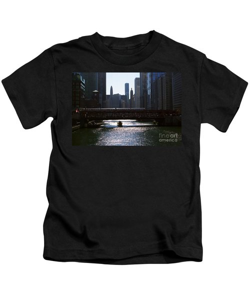 Chicago Morning Commute Kids T-Shirt