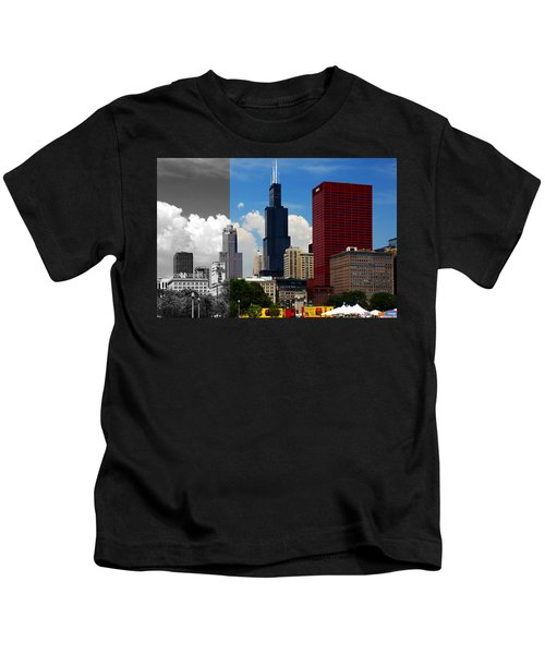 Chicago Skyline Sears Tower Kids T-Shirt