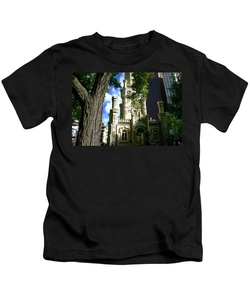 Chicago Water Tower Castle Kids T-Shirt