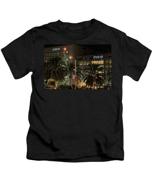 Christmas Tree At Union Square Kids T-Shirt