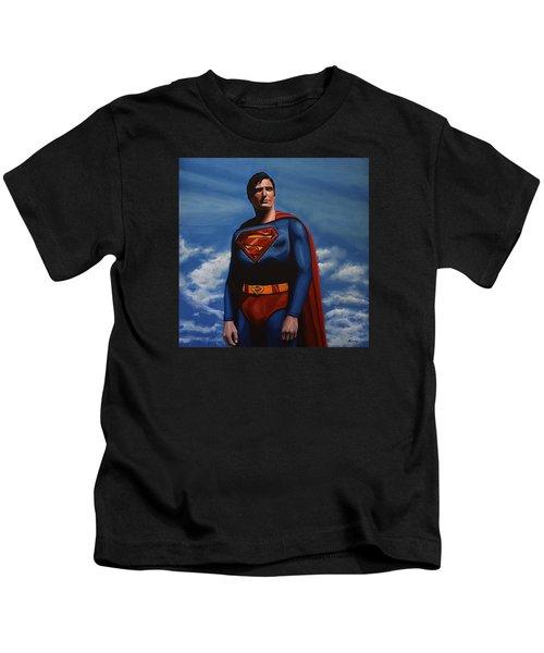 Christopher Reeve As Superman Kids T-Shirt