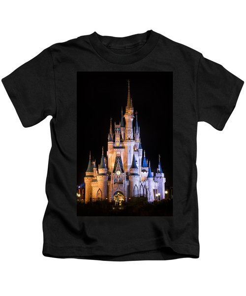 Cinderella's Castle In Magic Kingdom Kids T-Shirt