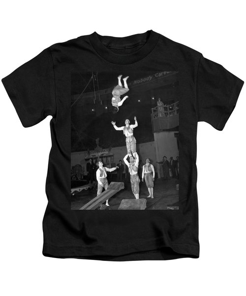Circus Acrobats Practicing Kids T-Shirt