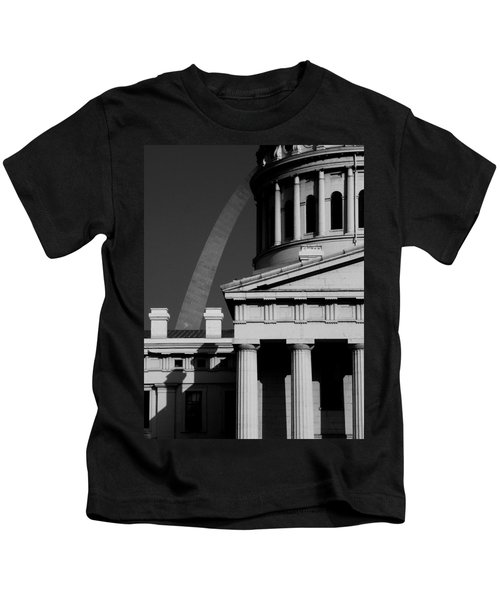 Classical Courthouse Arch Black White Kids T-Shirt