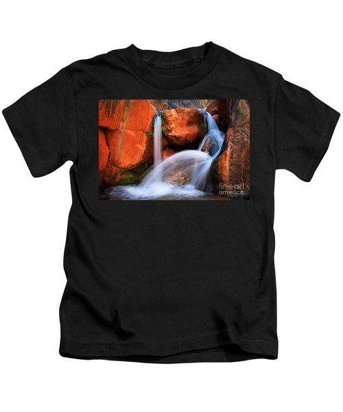 Clear Creek Falls Kids T-Shirt