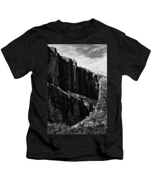 Cliffs In Contrast Kids T-Shirt