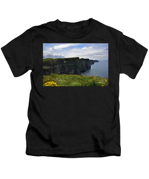 Cliffs Of Moher Looking South Kids T-Shirt