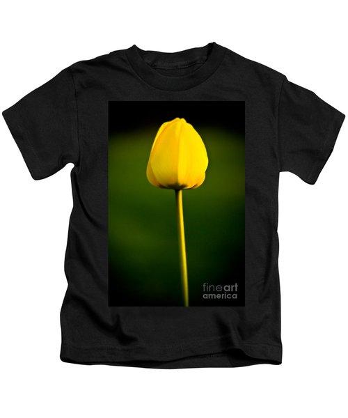 Closed Yellow Flower Kids T-Shirt