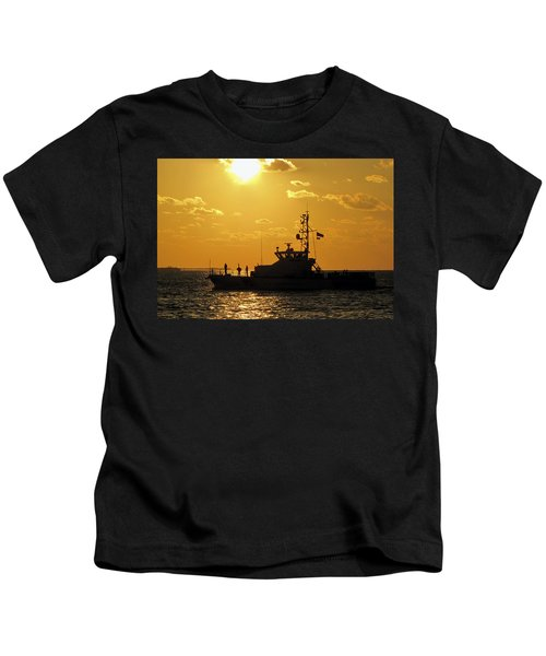 Coast Guard In Paradise - Key West Kids T-Shirt