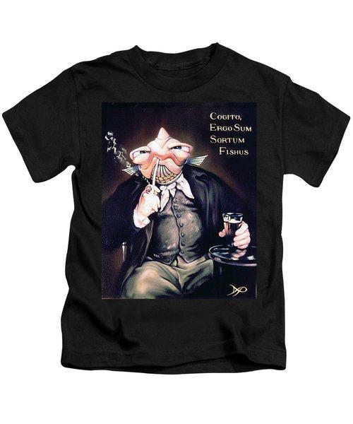 Cogito Ergo Sum Sortum Fishus Kids T-Shirt