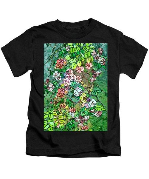 Colored Rose Garden Kids T-Shirt