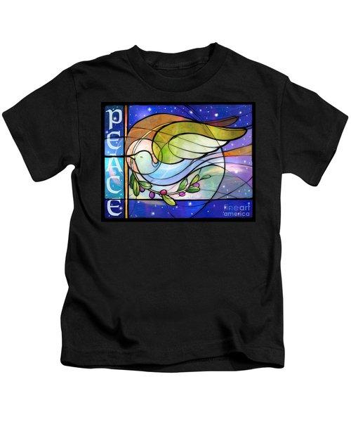 Colorful Peace Dove Kids T-Shirt