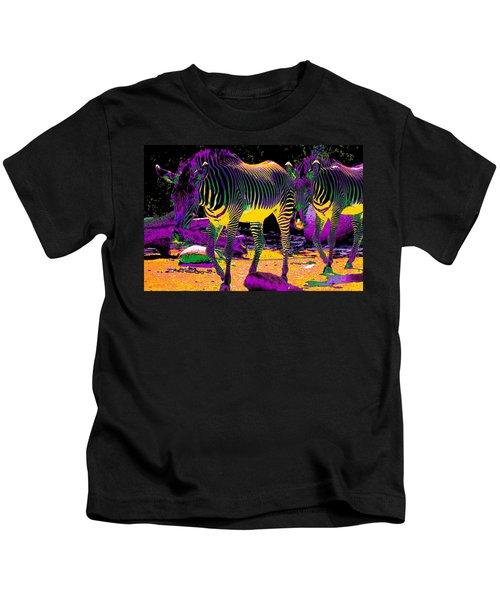 Colourful Zebras  Kids T-Shirt