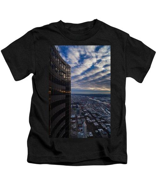Columbia Center Skies Reflected Kids T-Shirt