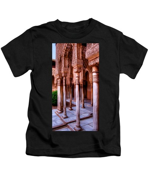 Columns Of The Court Of The Lions - Painting Kids T-Shirt