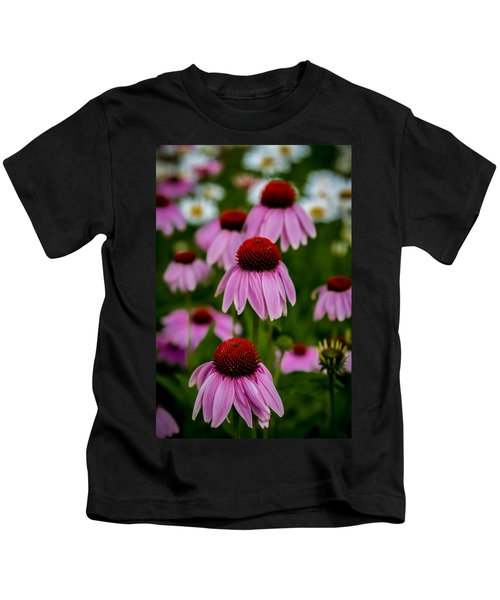 Coneflowers In Front Of Daisies Kids T-Shirt