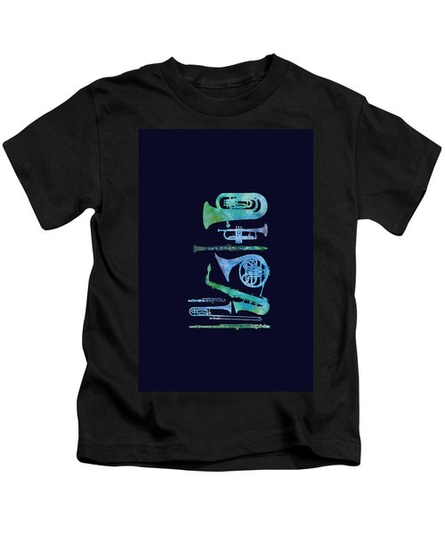 Cool Blue Band Kids T-Shirt