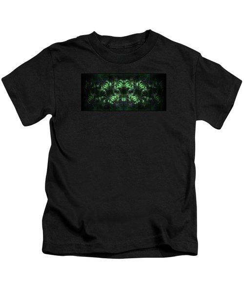 Cosmic Alien Eyes Green Kids T-Shirt