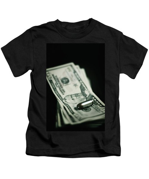 Cost Of One Bullet Kids T-Shirt