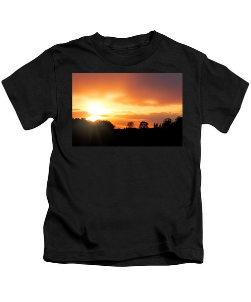 Country Sunset Silhouette Kids T-Shirt