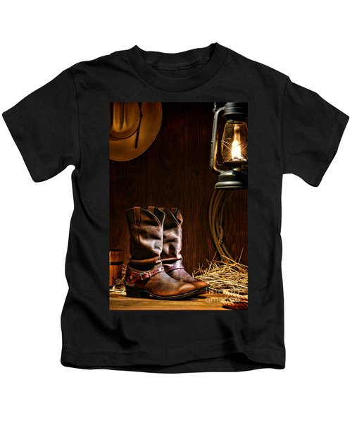 Cowboy Boots At The Ranch Kids T-Shirt
