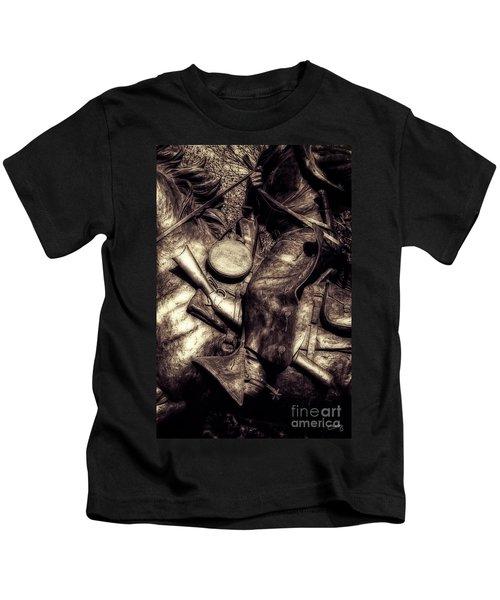 Cowboy In Bronze Kids T-Shirt