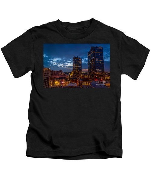 Cowtown At Night Kids T-Shirt