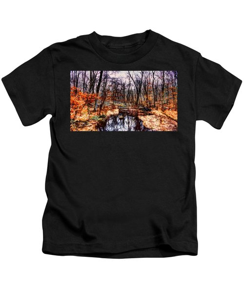 Creek At Pyramid Mountain Kids T-Shirt