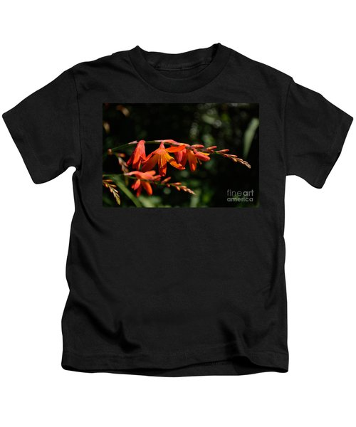 Crocosmia 'dusky Maiden' Flowers Kids T-Shirt