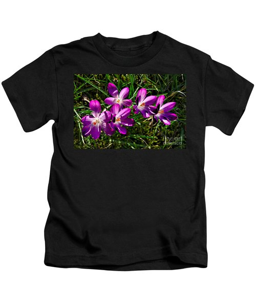 Crocus In The Grass Kids T-Shirt