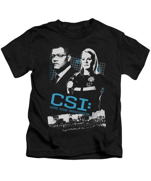 Csi - Investigate This Kids T-Shirt