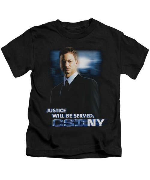 Csi:ny - Justice Served Kids T-Shirt