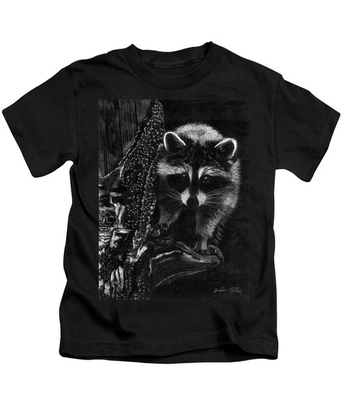 Curious Raccoon Kids T-Shirt