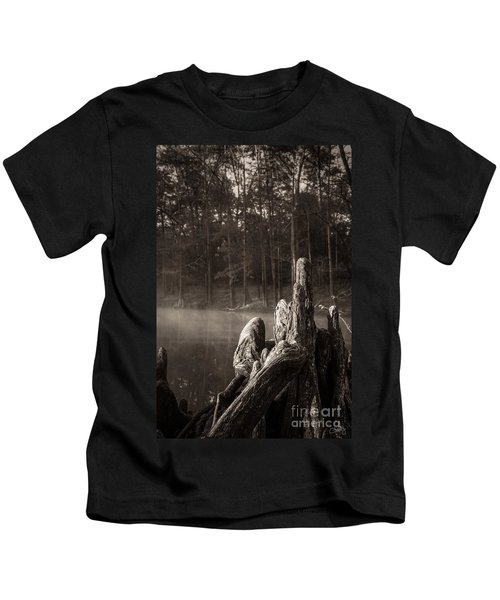 Cypress Knees In Sepia Kids T-Shirt