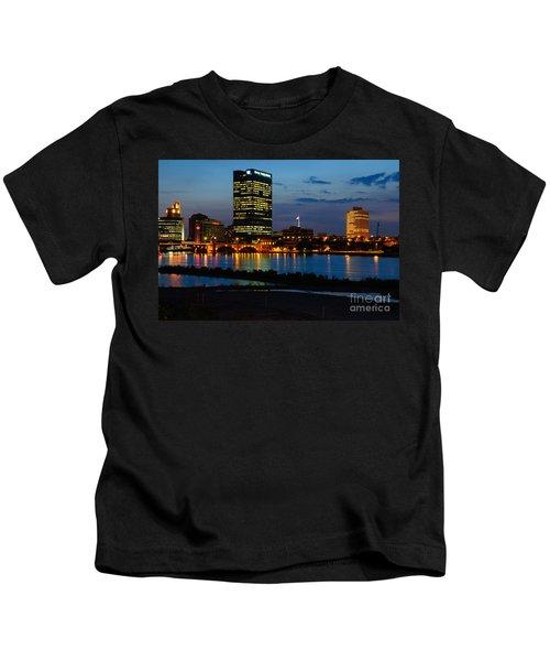 D12u152 Toledo Ohio Skyline Photo Kids T-Shirt