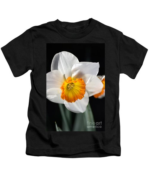 Daffodil In White Kids T-Shirt