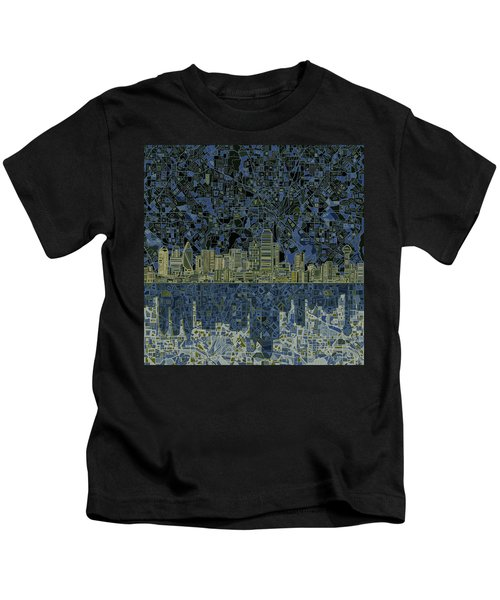 Dallas Skyline Abstract 2 Kids T-Shirt