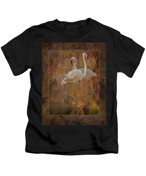 Dance Of The Flamingos Kids T-Shirt
