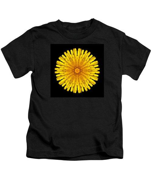Dandelion Flower Mandala Kids T-Shirt