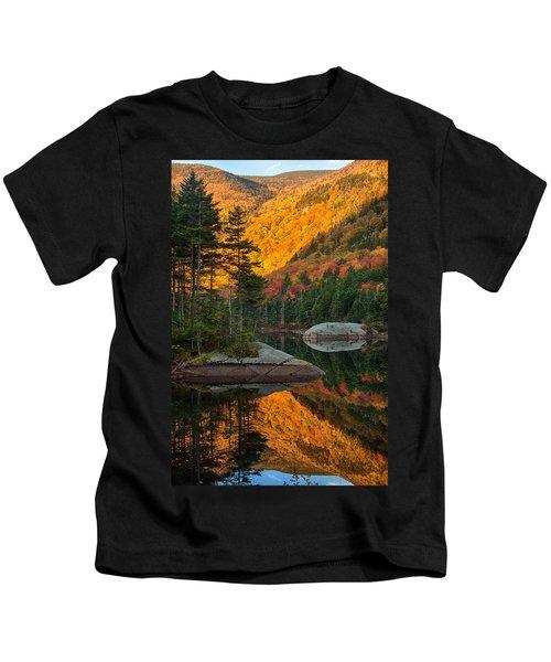 Dawns Foliage Reflection Kids T-Shirt