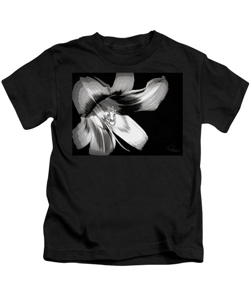 Daylily In Gray Kids T-Shirt