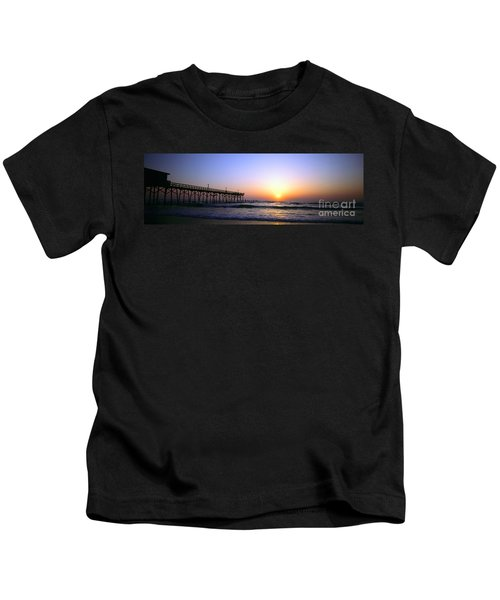 Daytona Sun Glow Pier  Kids T-Shirt