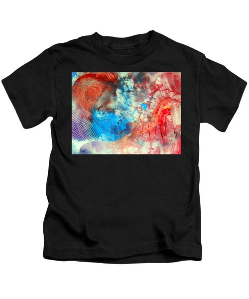 Decalcomaniac Colorfield Abstraction Without Number Kids T-Shirt