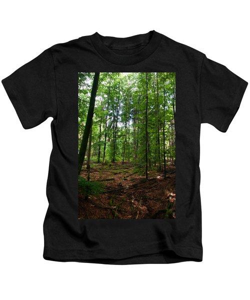 Deep Forest Trails Kids T-Shirt