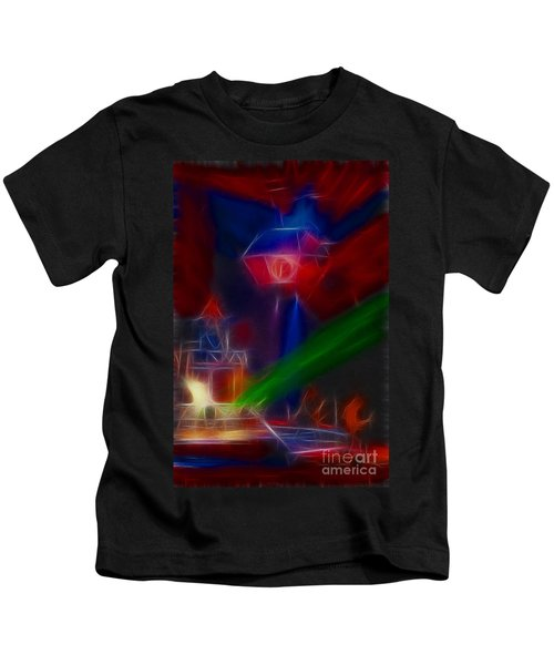 Def Leppard-adrenalize-gf12-fractal Kids T-Shirt by Gary Gingrich Galleries